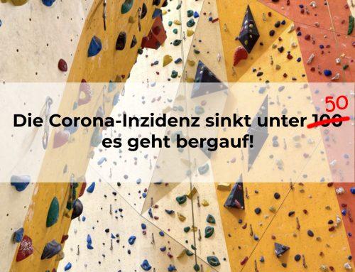 Die Corona-Inzidenz sinkt unter 50!